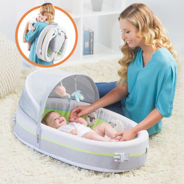 LulyBoo - LulyZoo Taşınabilir Bebek Yatağı-Kuzu