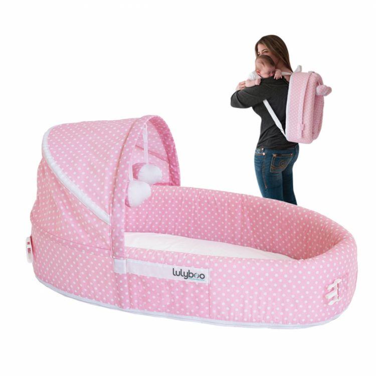 LulyBoo - LulyBoo Taşınabilir Bebek Yatağı- Pembe