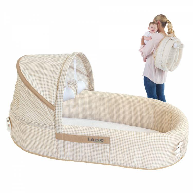 LulyBoo - LulyBoo Taşınabilir Bebek Yatağı-Bej