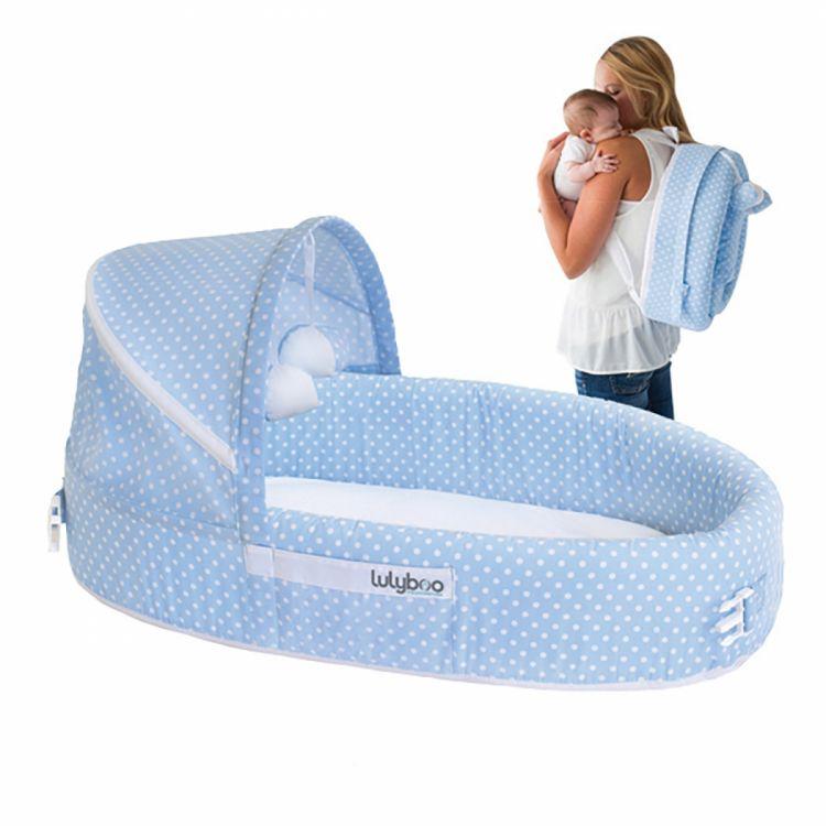 LulyBoo - LulyBoo Taşınabilir Bebek Yatağı-Mavi