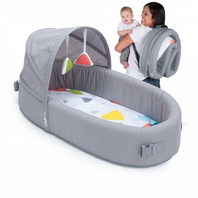 LulyBoo - LulyBoo Taşınabilir Bebek Yatağı- Metro Gri