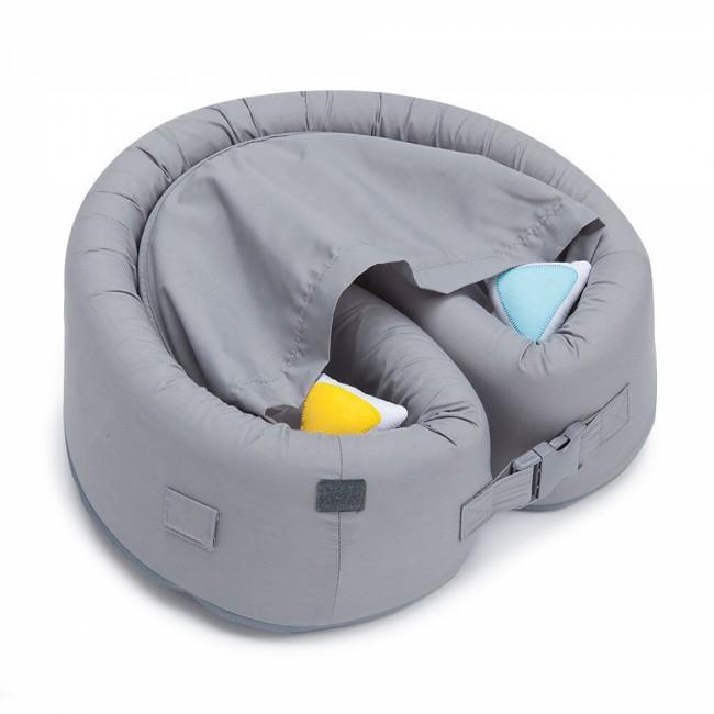 LulyBoo Taşınabilir Bebek Yatağı- Metro Gri - Thumbnail