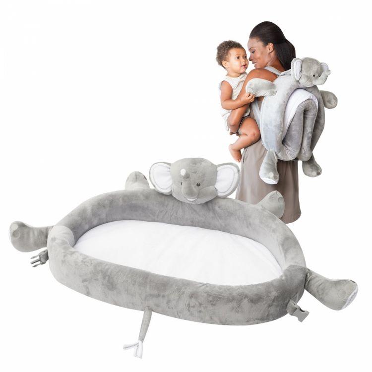 LulyBoo - LulyZoo Taşınabilir Bebek Yatağı-Fil