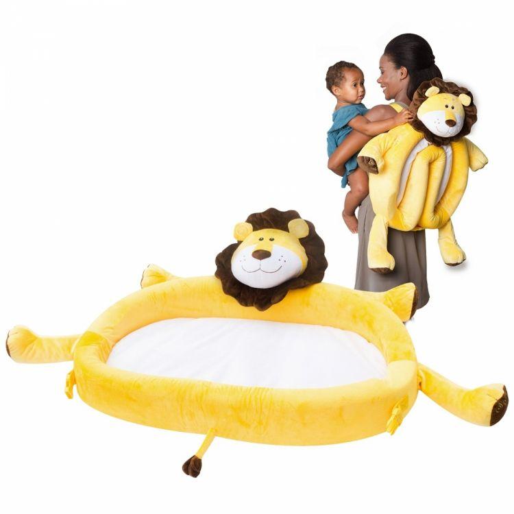 LulyBoo - LulyZoo Taşınabilir Bebek Yatağı-Aslan