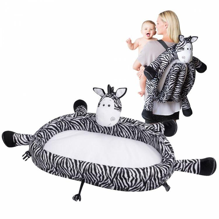 LulyBoo - LulyZoo Taşınabilir Bebek Yatağı-Zebra