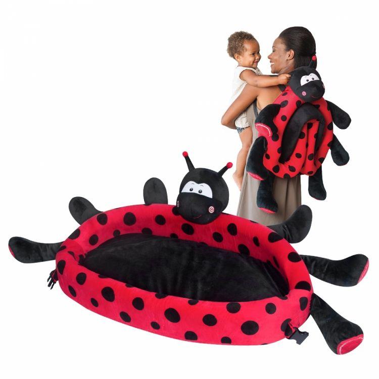 LulyBoo - LulyZoo Taşınabilir Bebek Yatağı-Uğur Böceği