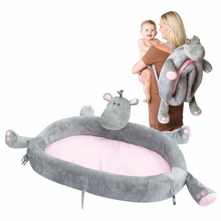 LulyBoo - LulyZoo Taşınabilir Bebek Yatağı-Hippo