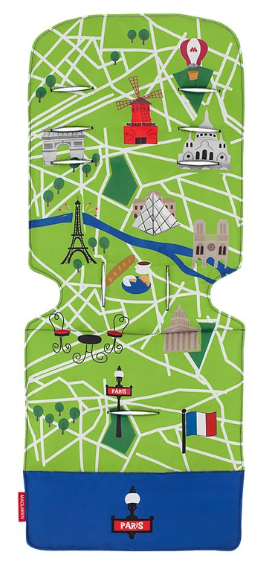 Maclaren - Maclaren Universal Liner Paris City Map İç Ped