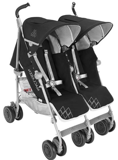 Maclaren - Maclaren Yeni Twin Techno İkiz Bebek Arabası Black
