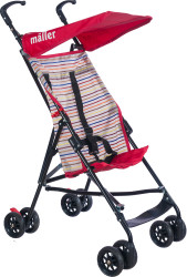 MallerBaby - Maller Baby Gio Baston Bebek Arabası Kırmızı