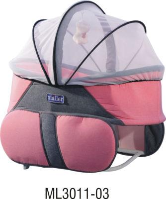 MallerBaby - Maller Baby Keten Comfort Mini Beşik Füme Fuşya