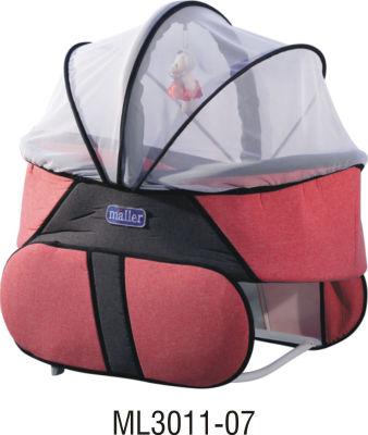 MallerBaby - Maller Baby Keten Comfort Mini Beşik Kırmızı Füme