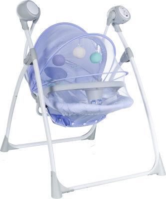 MallerBaby - Maller Baby Pino Elektronik Salıncak Mavi