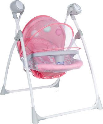 MallerBaby - Maller Baby Pino Elektronik Salıncak Pembe