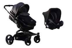 MallerBaby - Maller Baby Stella Twist Travel Sistem Bebek Arabası Siyah