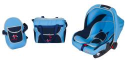 MallerBaby - Maller Baby Tres Üçlü Set Açık Mavi Lacivert
