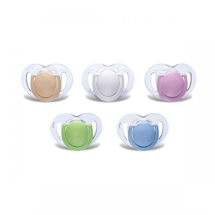 Mamajoo - Mamajoo %0 BPA Silikon Ortodontik Emzik Şeffaf / Tekli 6ay +