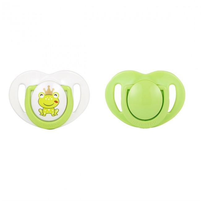 Mamajoo - Mamajoo Silikon Ortodontik İkili Emzik Kurbağa Prens / 6 ay +