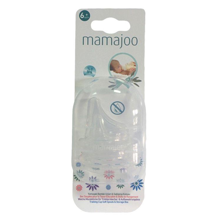 Mamajoo - Mamajoo Yumuşak Bardak Ucu 2li & Saklama Kutusu 6 ay +