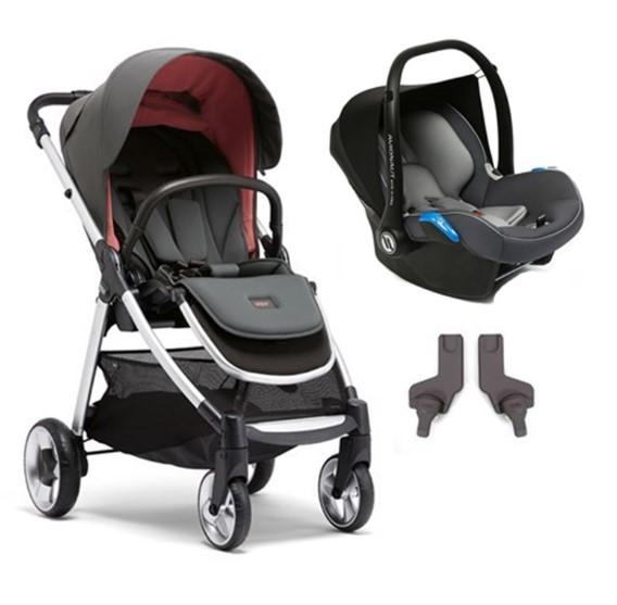 Mamas & Papas - Mamas Papas Armadillo Flip XT 2 Travel Sistem Bebek Arabası Coral Pink