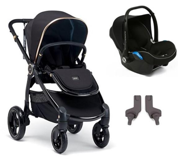 Mamas & Papas - Mamas Papas Ocarro Jewel Travel Sistem Bebek Arabası Black Diamond