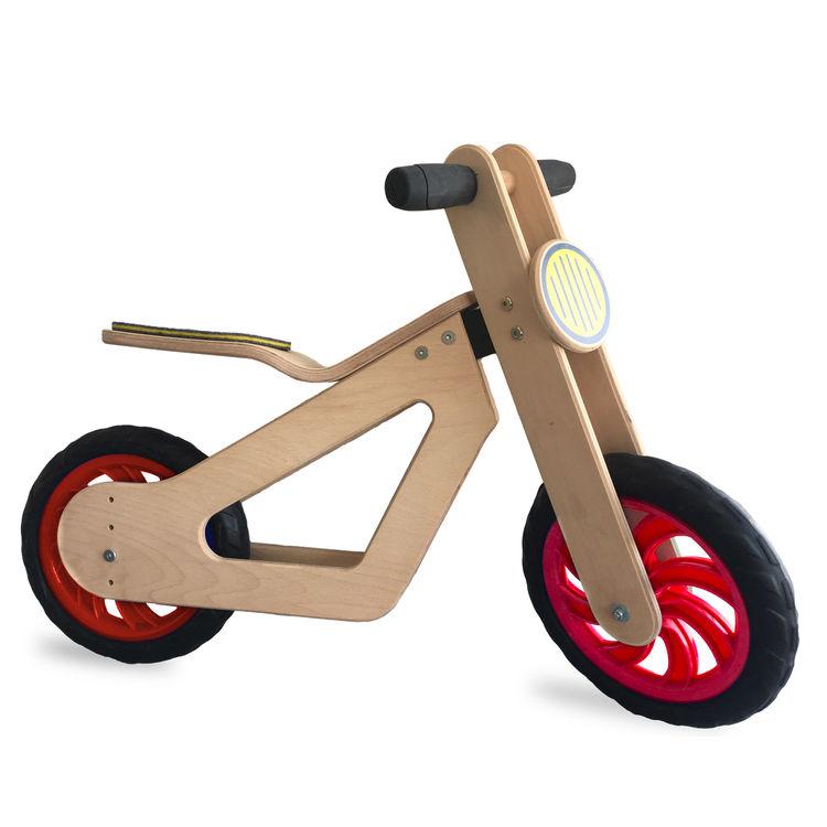 Mamatoyz - Mamatoyz Ahşap Denge Bisikleti Kırmızı