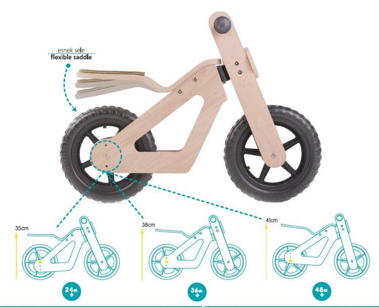 Mamatoyz - Mamatoyz Ahşap Denge Bisikleti