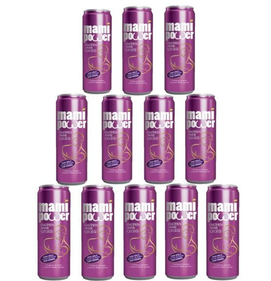 Mami Power - Mami Power Emziren Anne içeceği 330 ml 12 li Frambuaz