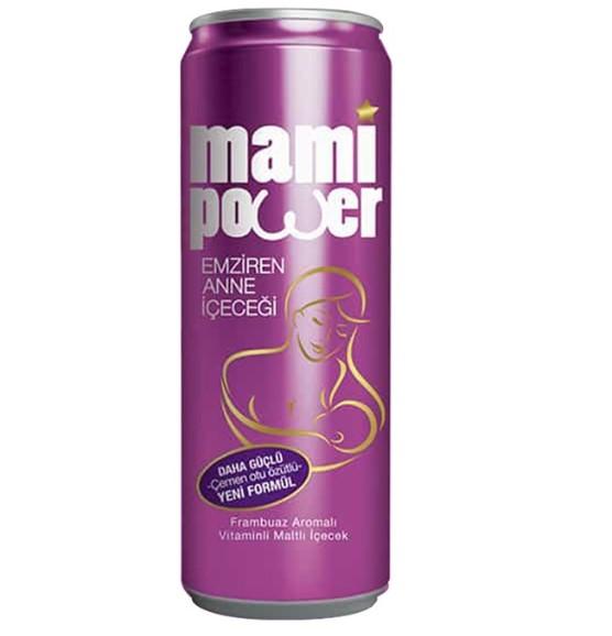 Mami Power - Mami Power Emziren Anne Maltlı Vitaminli İçecek 330 ml Frambuaz Aromalı