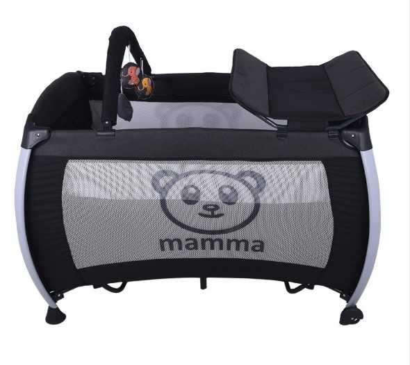 Mamma Hippo Alüminyum Park Yatak Beşik - Antrasit
