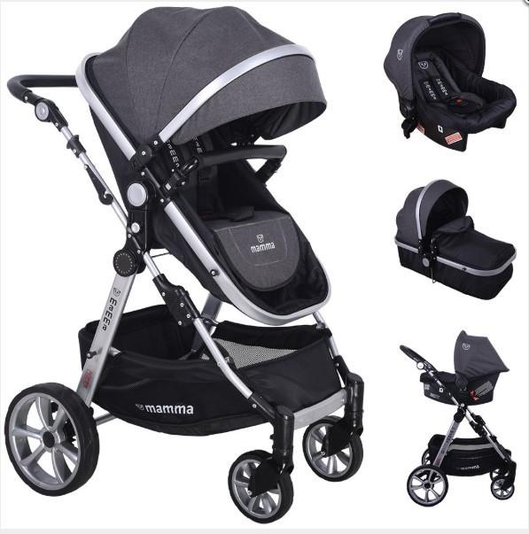 Mamma - Mamma Panda Travel Sistem Bebek Arabası - Antrasit