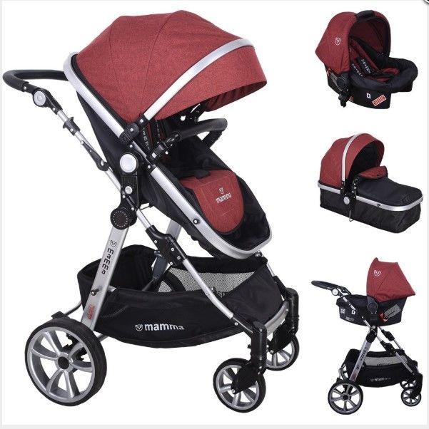 Mamma - Mamma Panda Travel Sistem Bebek Arabası - Bordo