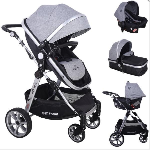 Mamma - Mamma Panda Travel Sistem Bebek Arabası - Gri
