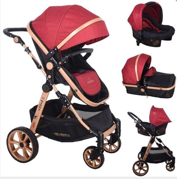 Mamma - Mamma Tiger Gold Travel Sistem Bebek Arabası - Bordo