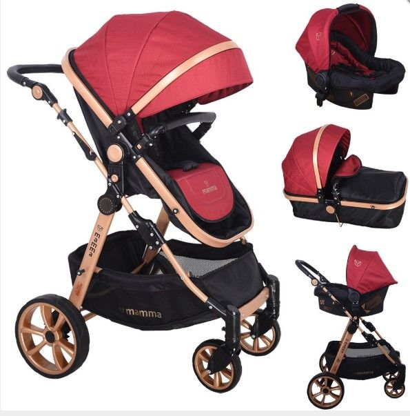 Mamma - Mamma Tiger Gold Travel Sistem Bebek Arabası - Bordo