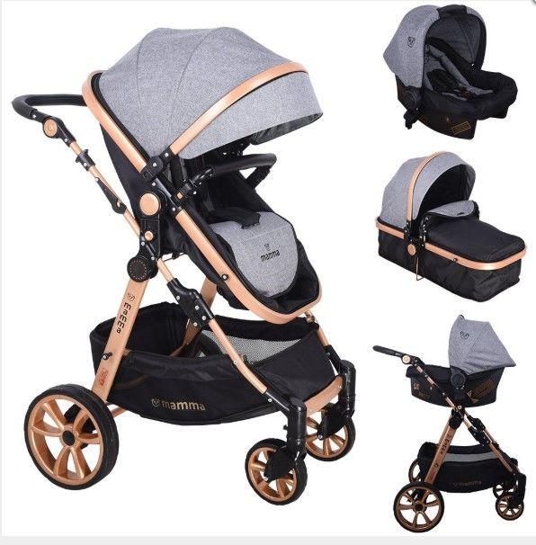 Mamma - Mamma Tiger Gold Travel Sistem Bebek Arabası - Gri