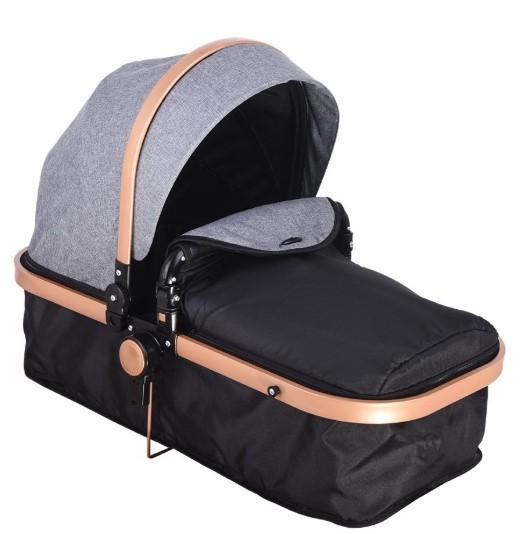 Mamma Tiger Gold Travel Sistem Bebek Arabası - Gri - Thumbnail