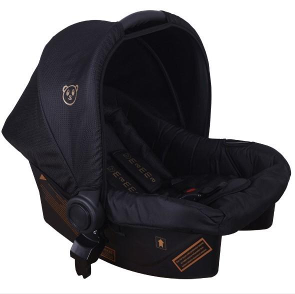 Mamma Tiger Gold Travel Sistem Bebek Arabası - Siyah - Thumbnail