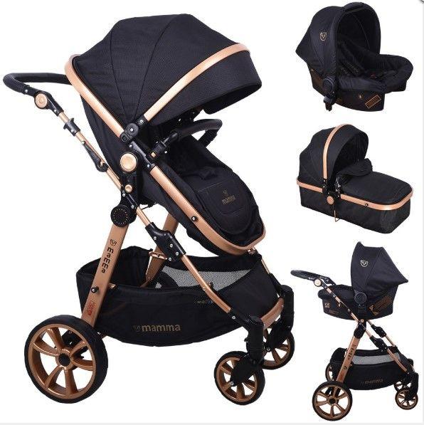 Mamma - Mamma Tiger Gold Travel Sistem Bebek Arabası - Siyah