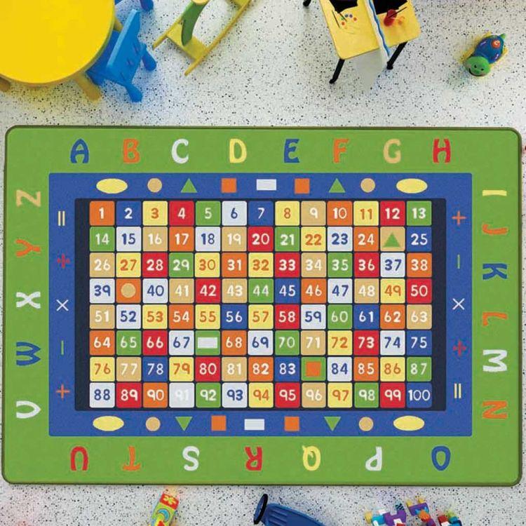 Confetti - Confetti Math Anti-Slip 200x290 Yeşil Bukle
