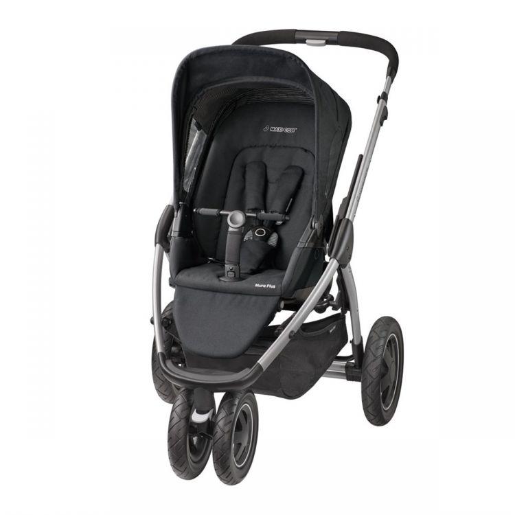 Maxi-Cosi - Maxi-Cosi Mura Plus 3 Bebek Arabası / Black Raven