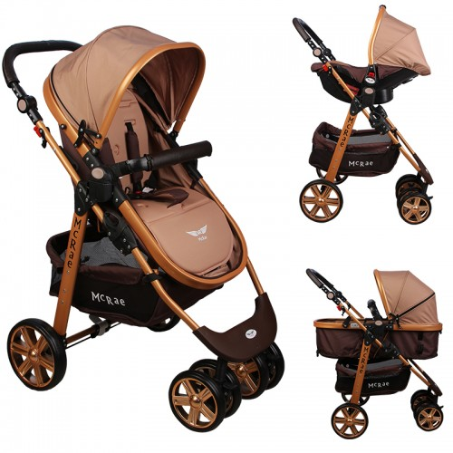 McRae - McRae MC-540 Premium Gold Trio Travel Sistem Bebek Arabası