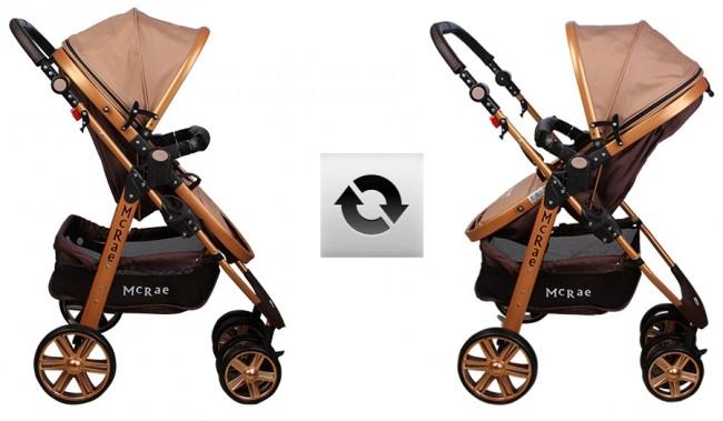 McRae MC-540 Premium Gold Trio Travel Sistem Bebek Arabası - Thumbnail