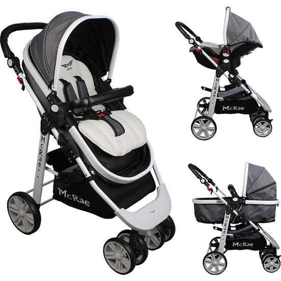 McRae - McRae Premium Trio Travel Sistem Bebek Arabası (MC-500 ) Gri