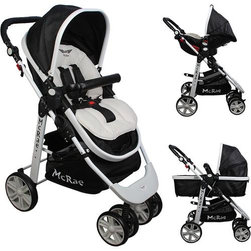 McRae - McRae Premium Trio Travel Sistem Bebek Arabası (MC-500 ) Siyah
