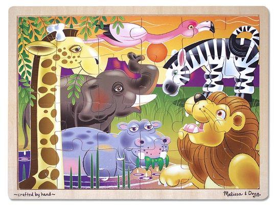 Melissa & Doug - Melissa & Doug Ahşap 24 Parça Yapboz - Safari