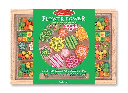 Melissa & Doug - Melissa & Doug Ahşap Boncuk Dizme - Çiçeğin Gücü