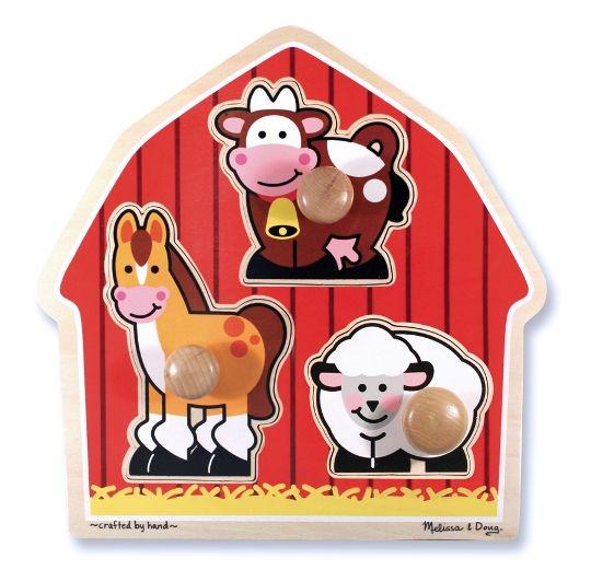 Melissa & Doug - Melissa & Doug Ahşap İlk Yapbozum - Çiftlik Hayvanları