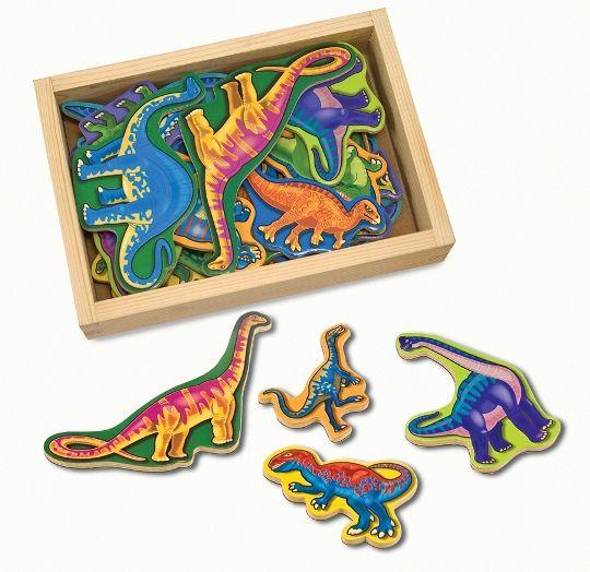 Melissa & Doug - Melissa & Doug Ahşap Mıknatıslı Dinozorlar