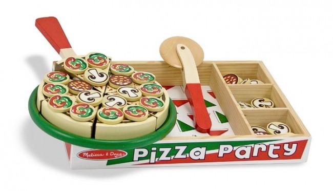 Melissa & Doug - Melissa & Doug Ahşap Pizza Partisi